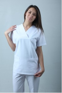 Zarf Yaka Cerrahi Kesim Hemşire Forması Nöbet Takımı