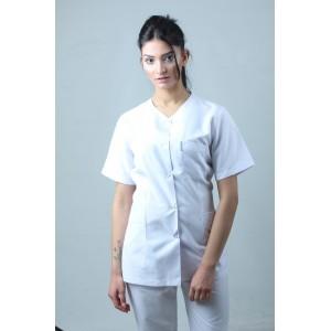 Damla Yaka Ceket Boy Hemşire Forması Önlük ve Pantolon Takım