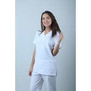 Dr Treys Cerrahi Kesim Hemşire Forması Nöbet Takımı Beyaz